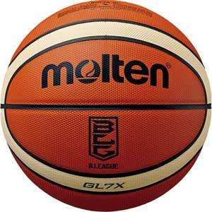 BGL7X-BL モルテン バスケットボール 7号球 (天然皮革) Molten GL7X Bリーグ公式試合球 (オレンジ×アイボリー)