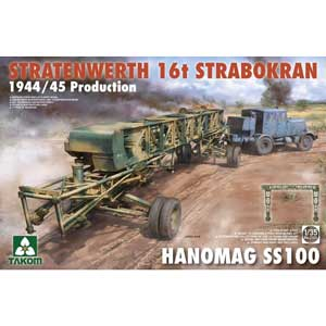 1/35 シュトラーテンヴェルト社 16tガントリークレーンw/ハノマーグSS100トラクター 1944/45年生産【TKO2124】 タコム