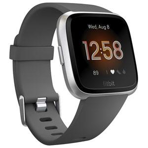 FB415SRGY-FRCJK フィットビット スマートウォッチ(Charcoal/Silver Alminum) L/Sサイズ Fitbit Versa Lite [FB415SRGYFRCJK]【返品種別A】