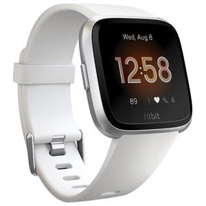 FB415SRWT-FRCJK フィットビット スマートウォッチ(White/Silver Alminum) L/Sサイズ Fitbit Versa Lite [FB415SRWTFRCJK]【返品種別A】