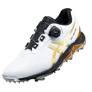 1113A002 101WHRG 250 アシックス メンズ・ソフトスパイク・ゴルフシューズ (ホワイト/リッチゴールド・25.0cm) asics GEL-ACE PRO 4 BOA