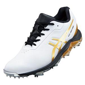 1113A013 101WHRG 245 アシックス メンズ・ソフトスパイク・ゴルフシューズ (ホワイト/リッチゴールド・24.5cm) asics GEL-ACE PRO 4