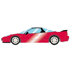1/43 Honda NSX-R (NA2) 2002 モンツァレッドパール (レッドシート)【EM389I】 メイクアップ