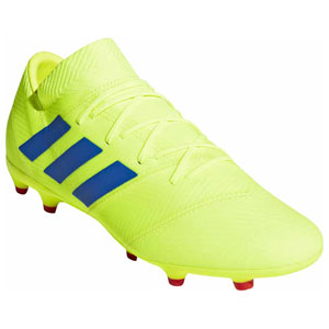 ADJ-BB9431-270 アディダス サッカー スパイク(ソーラーイエロー/フットボールブルー/アクティブレッドS19・27.0cm) adidas ネメシス 18.2 FG/AG