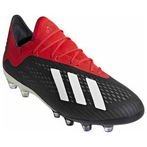 ADJ-F97356-250 アディダス サッカー スパイク(コアブラック/オフホワイト/アクティブレッドS19・25.0cm) adidas エックス18.2-ジャパン HG/AG