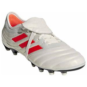 ADJ-F97322-255 アディダス サッカー スパイク(オフホワイト/ソーラーレッド/コアブラック・25.5cm) adidas コパ19.2-ジャパン HG/AG