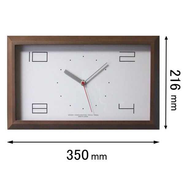 V-0001(BR) フォーカス・スリー 電波掛け時計 Focus Three 黄金比の時計(ブラウン) [V0001BR]【返品種別A】