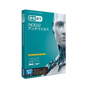 ESET NOD32アンチウイルス 5PC更新 1年5台【更新版】 キヤノンITソリューションズ ※パッケージ版
