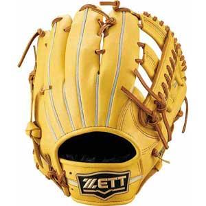 Z-BRGB33920-5436-LH ゼット 軟式野球用グラブ オールラウンド用(トゥルーイエロー/オークブラウン・右投用・サイズ:4) ZETT ウイニングロード
