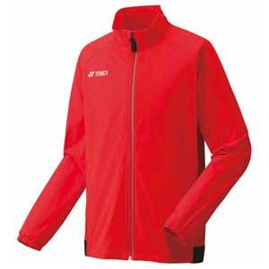 YO 50077 569 M ヨネックス メンズ ウォームアップシャツ(ファイヤーレッド・サイズ:M) YONEX