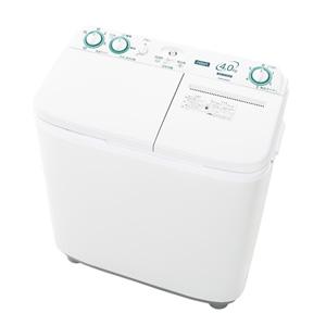 (標準設置料込)AQW-N40-W アクア 4.0kg 2槽式洗濯機 ホワイト AQUA