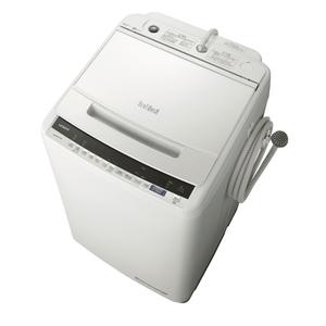 _ (標準設置料込)BW-V80E-W 日立 8.0kg 全自動洗濯機 ホワイト HITACHI ビートウォッシュ