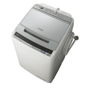 (標準設置料込)BW-V90E-S 日立 9.0kg 全自動洗濯機 シルバー HITACHI ビートウォッシュ