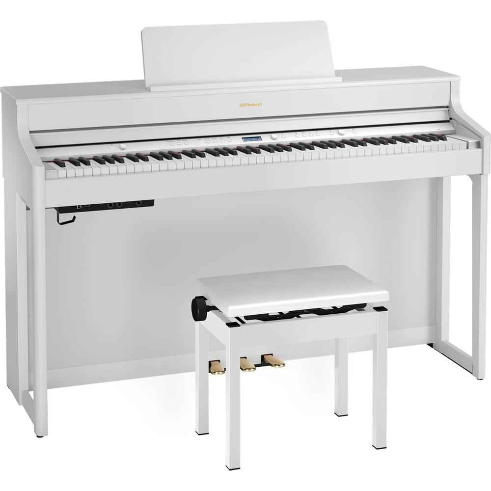 HP702-WHS ローランド 電子ピアノ(ホワイト)【高低自在椅子&ヘッドホン&楽譜集付き】 Roland HP700 SERIES