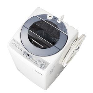 _ (標準設置料込)ES-GV8D-S シャープ 8.0kg 全自動洗濯機 シルバー系 SHARP