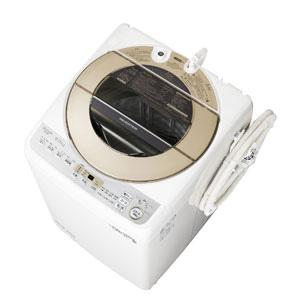 (標準設置料込)ES-GV9D-N シャープ 9.0kg 全自動洗濯機 ゴールド系 SHARP