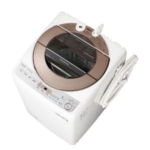 _ (標準設置料込)ES-GV10D-T シャープ 10.0kg 全自動洗濯機 ブラウン系 SHARP
