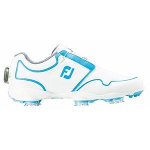 96207W25 フットジョイ レディース・ゴルフシューズ (ホワイト×ブルー・サイズ:25.0cm) footjoy FJ スポーツ ティーエフ Boa
