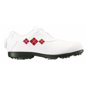 98625XW24 フットジョイ レディース・ゴルフシューズ (ホワイト×レッド・サイズ:24.0cm) footjoy ウィメンズ イーコンフォート ボア