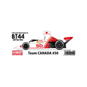 1/20 ブラバムBT42/44 #50 Team CANADA 1975【ST27-FK20294】 スタジオ27