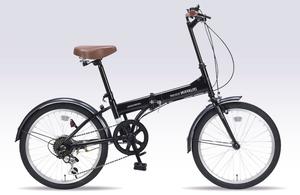 M-200-BK マイパラス 折りたたみ自転車 20インチ(ブラック) MYPALLAS