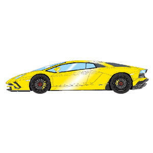 1/43 Lamborghini Aventador S 2017 -Center lock wheel Ver.- パールイエロー【EM361A】 メイクアップ