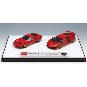 1/43 Lamborghini Superveloce set レッド/ゴールド【EMCOF012A】 メイクアップ