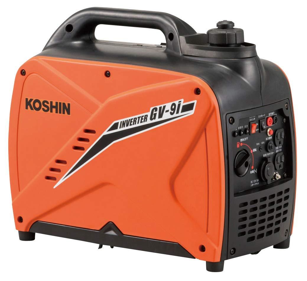 GV-9i 工進 ガソリン式 インバーター発電機(GV-9i-AAA-2)0.9kVA KOSHIN シガーソケット使用可能