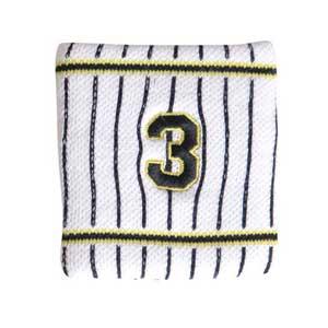 12JRYT0103 ミズノ 阪神タイガース公認 リストバンド 在庫限り ホーム HANSHIN 大山 ユニセックス お買い得 Tigers 背番号:3