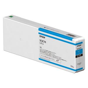 SC9C70 エプソン 純正インクカートリッジ 700ml(シアン) EPSON