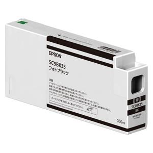 SC9BK35 エプソン 純正インクカートリッジ 350ml(フォトブラック) EPSON