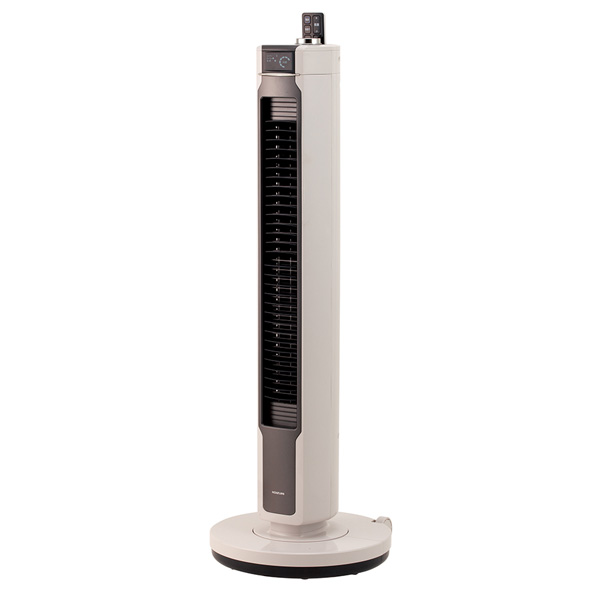 KTF-0591/H コイズミ 【扇風機】DCモーター搭載 タワー扇(リモコン付 グレー) KOIZUMI [KTF0591H]