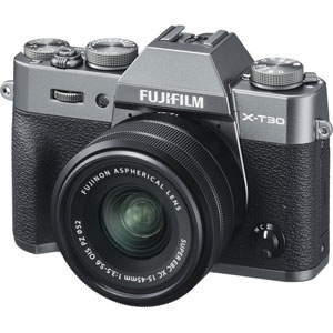 FX-T30LK-1545-CS 富士フイルム ミラーレス一眼カメラ「FUJIFILM X-T30」XC15-45mmレンズキット(チャコールシルバー)