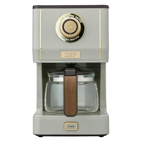 K-CM5-GE ラドンナ コーヒーメーカー グレージュ LADONNA Toffy アロマドリップコーヒーメーカー