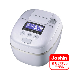 JPC-G10JWE タイガー 圧力IH炊飯ジャー(5.5合炊き) アーバンホワイト TIGER 炊きたて JPC-G100のJoshinオリジナルモデル [JPCG10JWE]