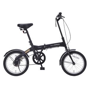 M-100-BK マイパラス 折りたたみ自転車 16インチ(ブラック) MYPALLAS