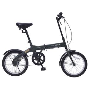 M-100-GR マイパラス 折りたたみ自転車 16インチ(グリーン) MYPALLAS