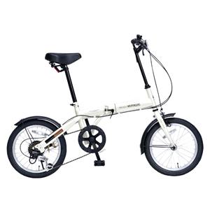 M-103-IV マイパラス 折たたみ自転車 16インチ 6段変速(アイボリー) MYPALLAS