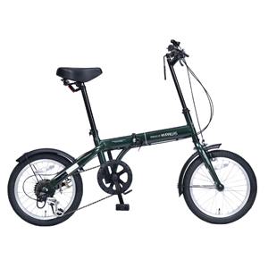 M-103-GR マイパラス 折たたみ自転車 16インチ 6段変速(ダークグリーン) MYPALLAS