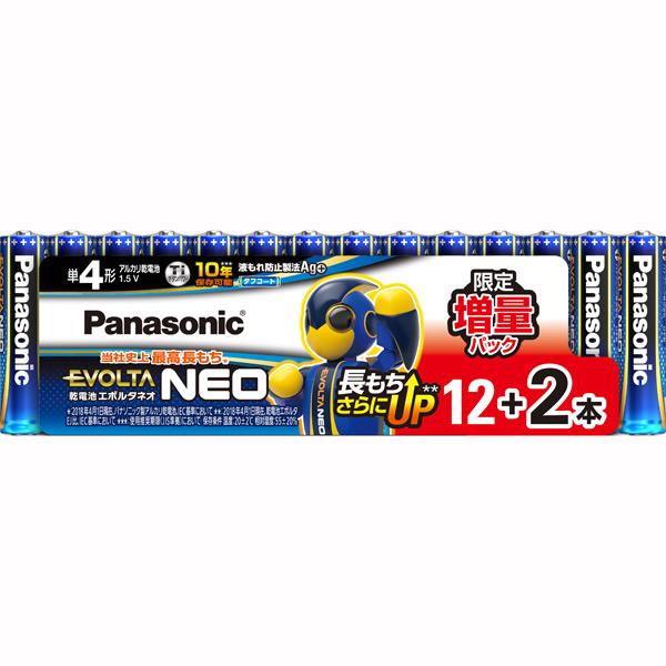 LR03NJSP 14S パナソニック 人気上昇中 アルカリ乾電池単4形 12本 2本増量パック EVOLTA Panasonic 安心の定価販売 LR03NJSP14S NEO