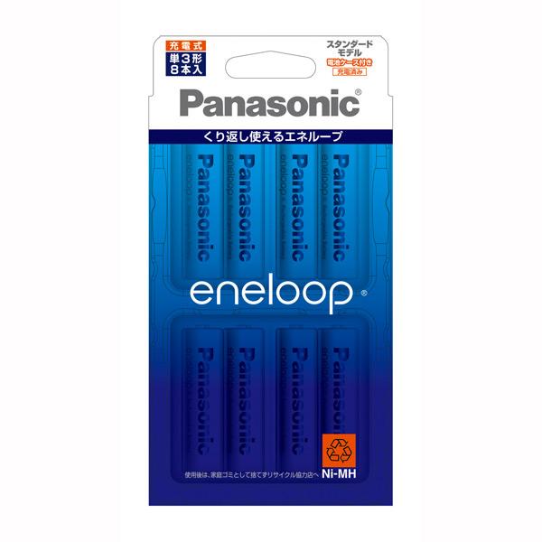 BK-3MCC 8C パナソニック ニッケル水素電池 大特価!! 単3形 eneloop Panasonic スタンダードモデル BK3MCC8C 休日 8本入