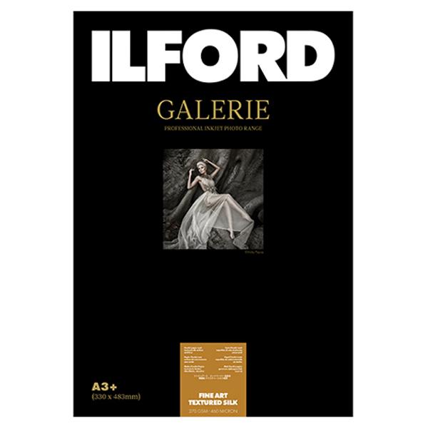 432605 イルフォード インクジェット用紙 ファインアートテクスチャードシルク 厚手 テクスチャードマット面質 A3+ 25枚 ILFORD GALERIE FineArt Textured Silk ギャラリー ファインアート マット