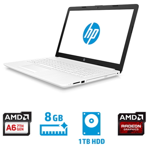 6MY34PA-AAAA HP(エイチピー) 15.6型ノートパソコン HP 15-db0224AU ピュアホワイト (AMDA6/メモリ8GB/1TBHDD)
