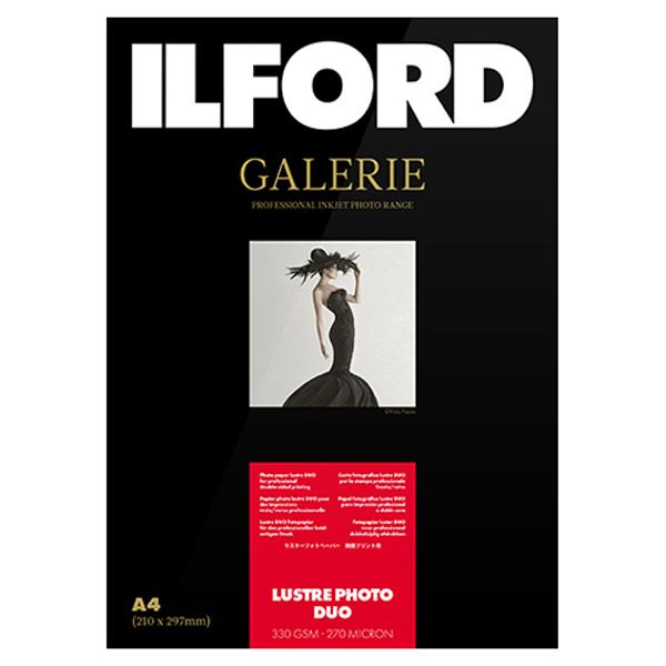 433273 イルフォード インクジェット用紙 ラスターフォトデュオ 厚手 半光沢 A4 100枚 ILFORD GALERIE Lustre Photo Duo ギャラリー デュオペーパー
