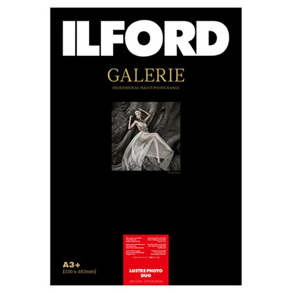 433275 イルフォード インクジェット用紙 ラスターフォトデュオ 厚手 半光沢 A3+ 25枚 ILFORD GALERIE Lustre Photo Duo ギャラリー デュオペーパー