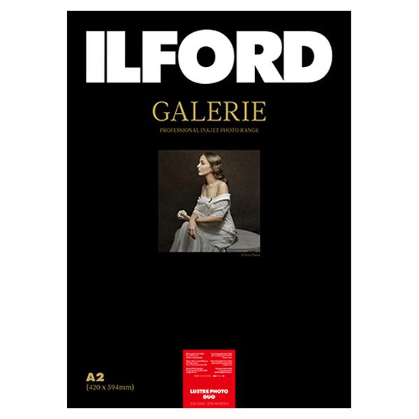 433277 イルフォード インクジェット用紙 ラスターフォトデュオ 厚手 半光沢 A2 25枚 ILFORD GALERIE Lustre Photo Duo ギャラリー デュオペーパー