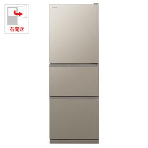 (標準設置料込)R-27KV-T 日立 265L 3ドア冷蔵庫(ライトブラウン)【右開き】 HITACHI [R27KVT]