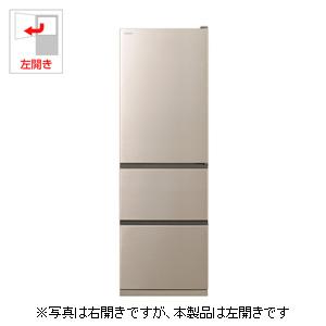 R-V38KVL-N 日立 375L 3ドア冷蔵庫(シャンパン)【左開き】 HITACHI [RV38KVLN]