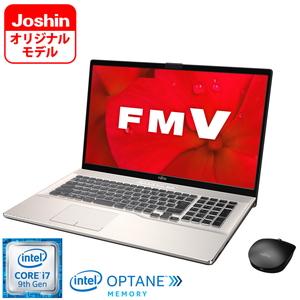 FMVN93D2GZ 富士通 FMV LIFEBOOK NH93/D2 シャンパンゴールド - 17.3型ノートパソコン【Joshinオリジナル】 [Core i7 / メモリ 16GB / HDD 2TB+Optane 16GB / BDドライブ / TV機能 / Microsoft Office 2019]
