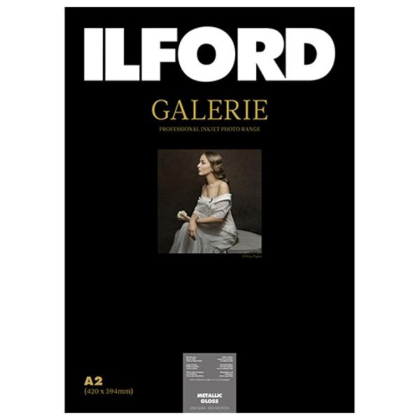 422118 イルフォード インクジェット用紙 メタリックグロス 厚手 メタル調 A2 25枚 ILFORD GALERIE Metallic Gloss ギャラリー プロフォトペーパー